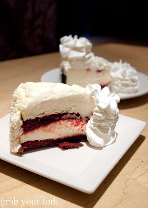 Ultimate red velvet cheesecake dessert The Cheesecake Factory Chicago Illinois