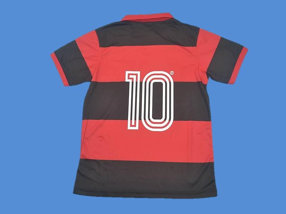 Flamengo 1982 Number 10 Home Jersey Vintage Jerseys