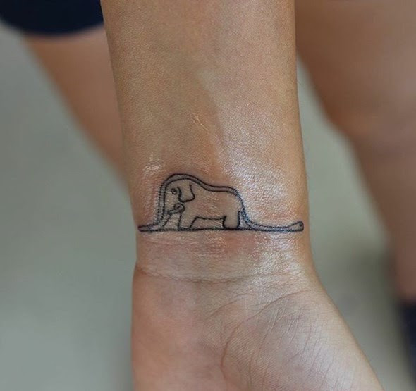 30 Adorable Tiny Elephant Tattoo