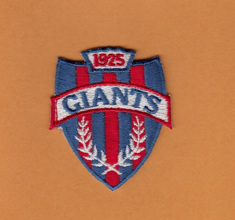 OLD NFL NEW YORK N Y GIANTS SHIELD LOGO PATCH UNUSED Unsold Stock  eBay