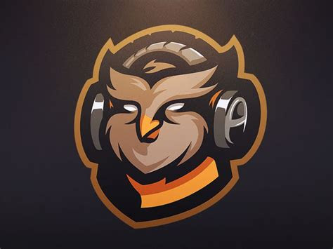 sell owl gaming mascot icons typography identity