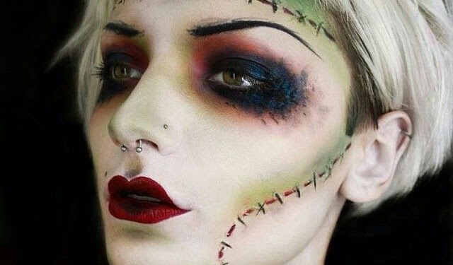 Frankenstein Makeup Look