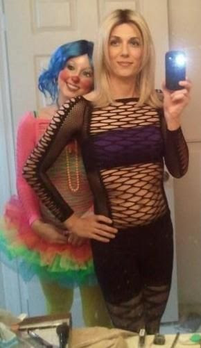 The Clown is pretty sure Hubby drinks free all night!http://cyrstiscondo-cyrsti.blogspot.com/