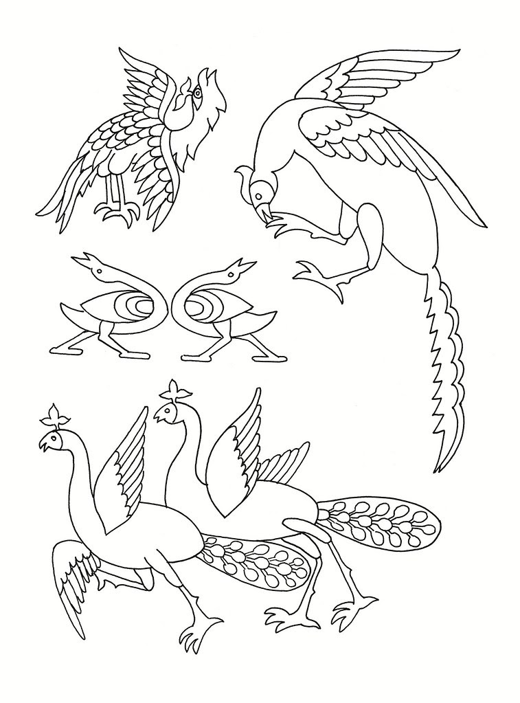 East Asian Designs - stylised birds