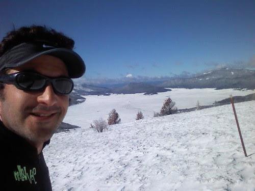 Me, caldera, 1 foot of snow, midrace