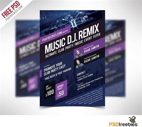Music Event Flyer Template Free PSD   PSDFreebies.com