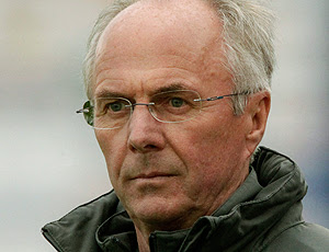 Sven Goran Eriksson no amistoso da Costa do Marfim