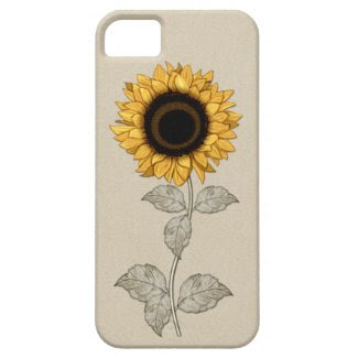 iPhone 5 Vintage Yellow Gold Sunflower