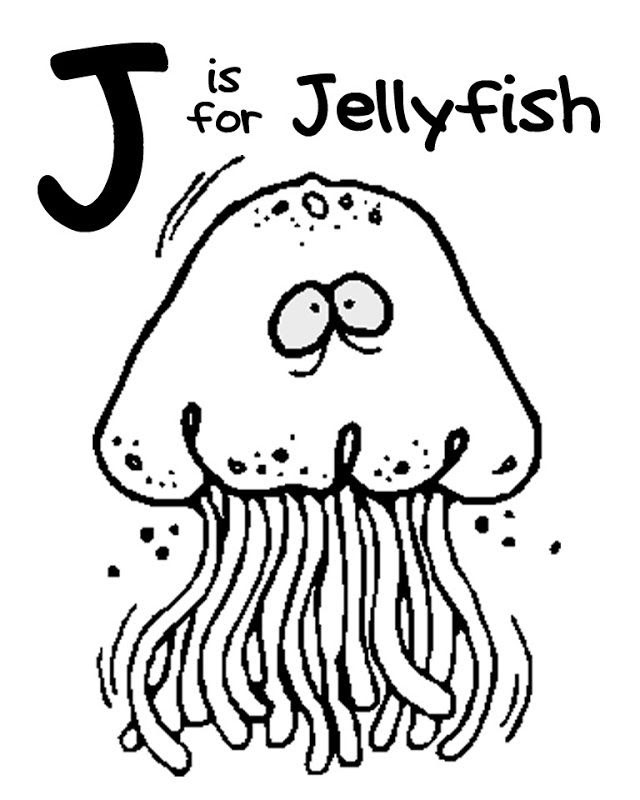 Jellyfish Coloring Pages To Print  Coloring Home