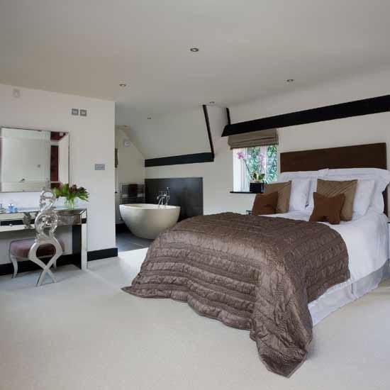Open-plan modern bedroom | Bedroom ideas | Image | Housetohome.co.uk