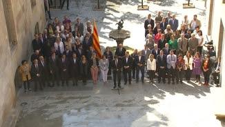Declaració institucional del president de la Generalitat, Carles Puigdemont, per anunciar la data i la pregunta del referèndum