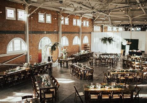 BRICK San Diego Venue Farm Table Rentals, Chair Rentals