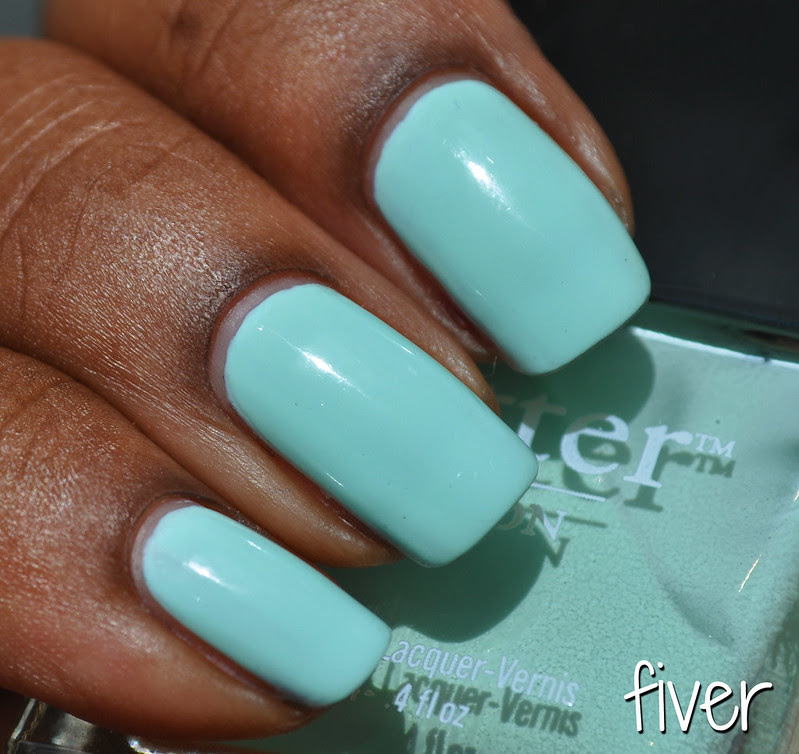 might green polish swatch fiver