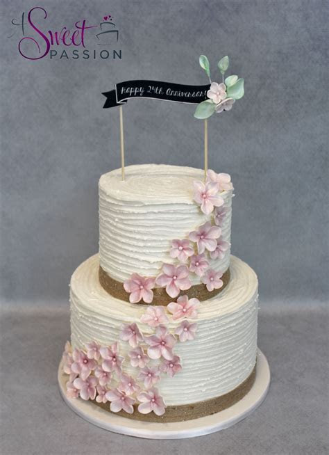 Rustic Buttercream Cherry Blossom Cake ? Sweet Passion Cakery
