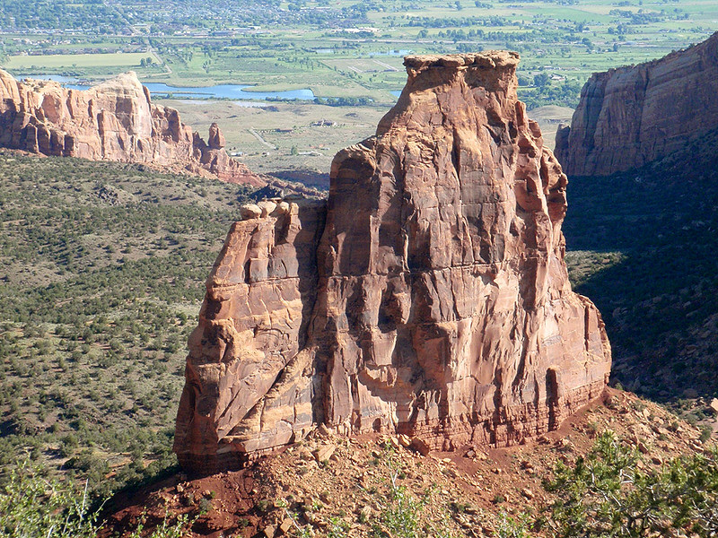 Independence Monument (a monolith or tower), Colorado National Monument
