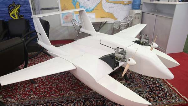 El nuevo juguete de guerra iraní, un drone suicida. / AFP