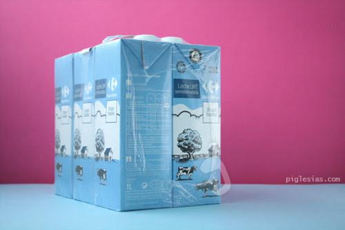 Pack de leche carrefour semidesnatada