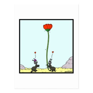 Ant in love: Ant cartoon Postcard