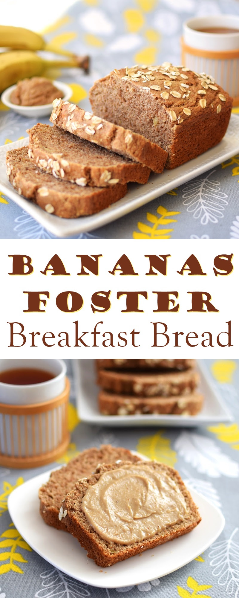 Bananas Foster Breakfast Bread Recipe with Vanilla Cream ...