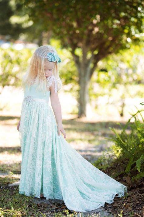 Aliexpress.com : Buy Mint Green A Line Lace Flower Girl