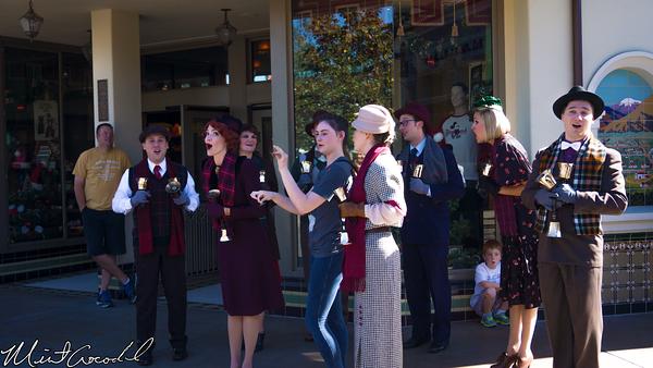 Disneyland Resort, Disney California Adventure, Buena Vista Street, Christmas, Time, Bell, Ringers