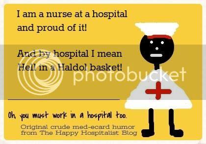 Hospital is Hell in a haldol basket ecard humor