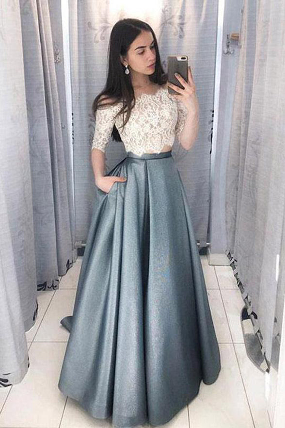 Online online long sleeve two piece homecoming dress online under