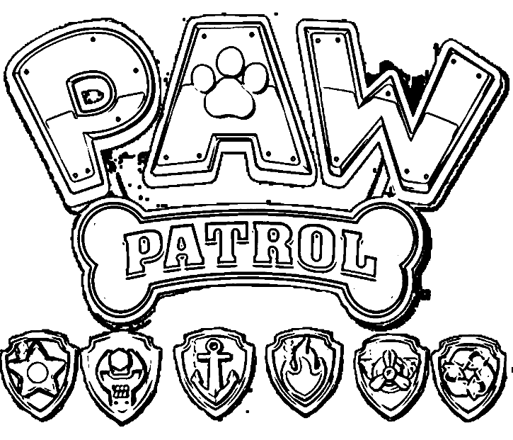 Paw Patrol Characters Coloring Pages At Getdrawingscom Free For