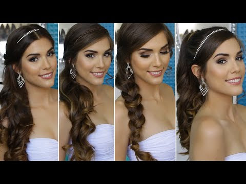 4 QUICK AND EASY HOMECOMING HAIRSTYLES   Hair Tutorial ...