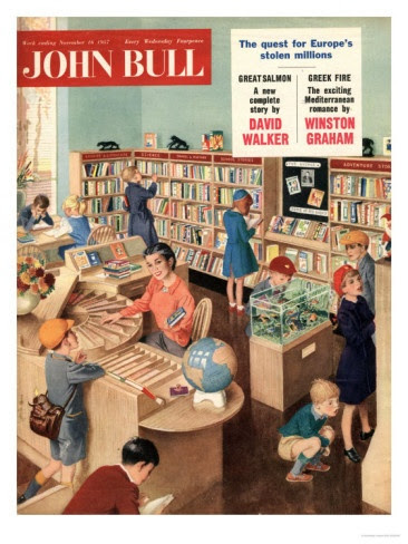 John Bull, Libraries Books Magazine, UK, 1950 Premium Poster