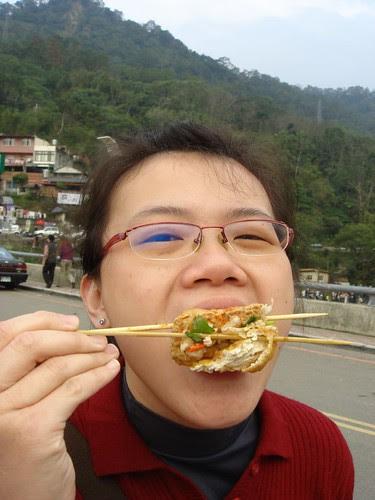 Allison eats stinky tofu