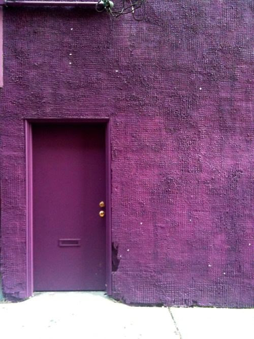 purple door.