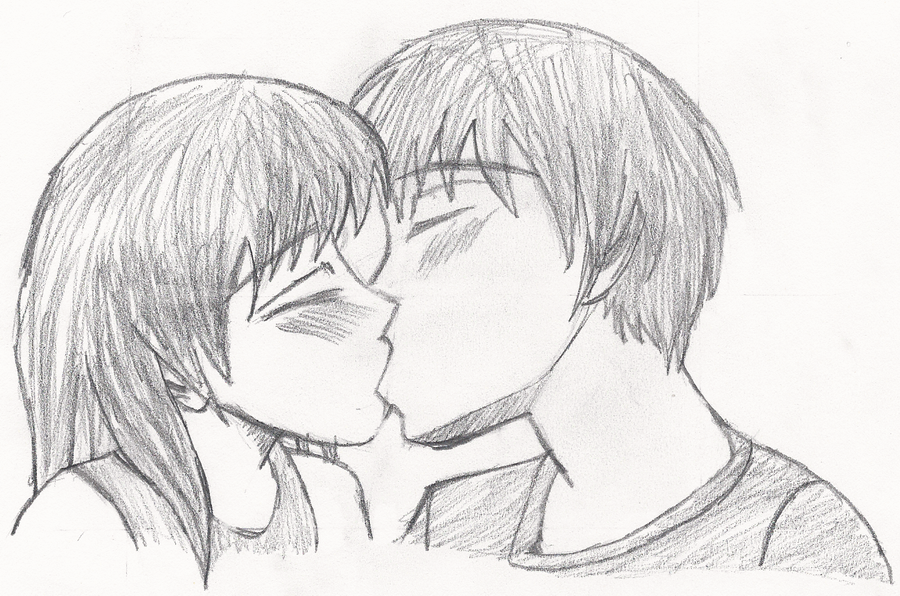 Couple Drawings Easy Kissing ~ Pict Art