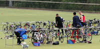 Setting up in transition - Me in the black hat!!!