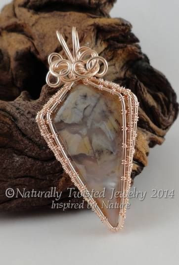 Chapenite in Rose Gold Parawire