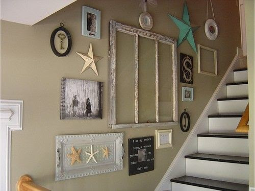 Home Design Plans Ideas To Decorate Staircase Wall