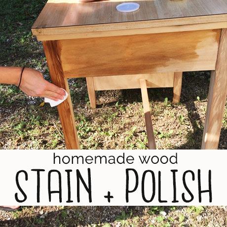 diy homemade wood stain sealer polish finish recipe