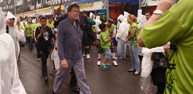14.dez.12 - Silvio Santos na festa de fim de ano dos funcionários do SBT