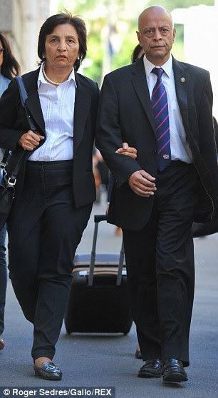 Dewani's parents, Snila and Prakash Dewani arrive at his murder trial in Cape Town
