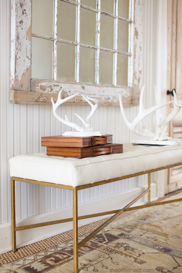 Atchison Home | White Antlers | Beadboard Walls