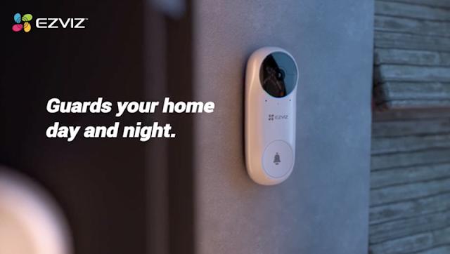 【Ezviz 螢石 智能無線門鈴】 DB2C 智能鏡頭門鈴套裝 手機通知、攝影監控