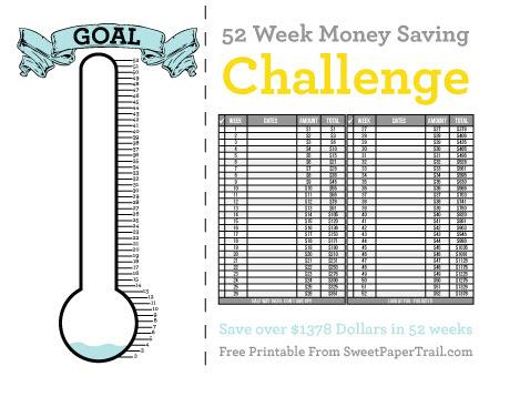 52 Week Money Saving Printable