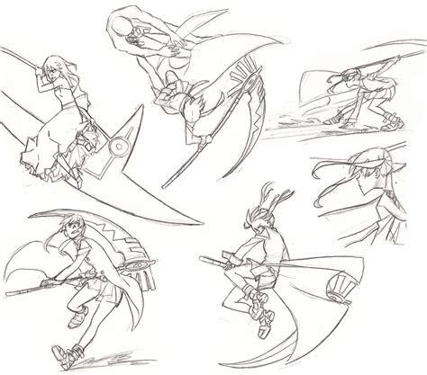 anime fighting pose drawing hot girl hd wallpaper