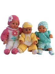 Carly Cliff & Cody Doll Clothes for 12-15inch Dolls Crochet Pattern Pack