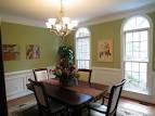 Deepnot | Green Paint colors for small dining room with hanging ...