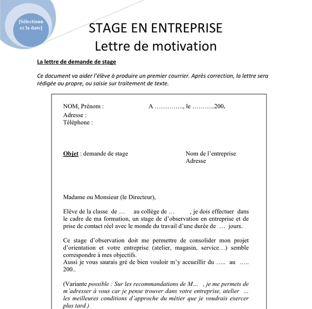 Lettre De Motivation Stage D Observation Gendarmerie Listen Ww