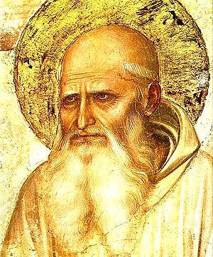 Saint Romuald (detail of Crucifixion and Saint...
