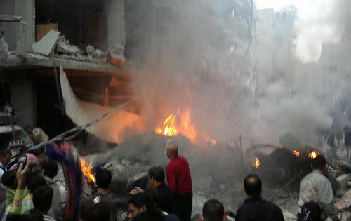 A car bomb explosion in Damascus, Syria killed several people on October 26, 2012. The government of President Bashar al-Assad has been under attack by US imperialism and its allies in the region. by Pan-African News Wire File Photos