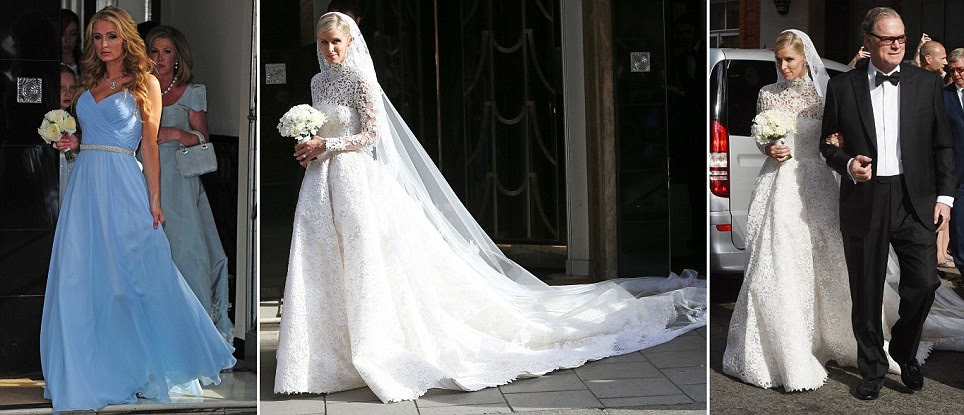 Here comes the billion dollar bride! Paris Hilton watches her sister Nicky marry