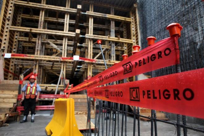 Una de las construcciones de la empresa ICA. Foto: Benjamin Flores